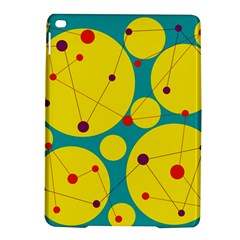 Yellow and green decorative circles iPad Air 2 Hardshell Cases