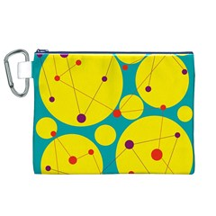 Yellow and green decorative circles Canvas Cosmetic Bag (XL)