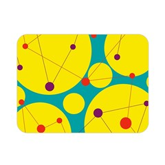 Yellow and green decorative circles Double Sided Flano Blanket (Mini)