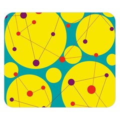 Yellow and green decorative circles Double Sided Flano Blanket (Small)