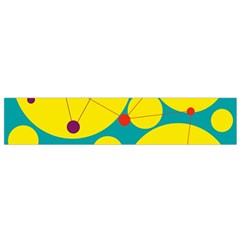 Yellow and green decorative circles Flano Scarf (Small)