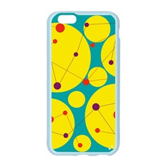 Yellow and green decorative circles Apple Seamless iPhone 6/6S Case (Color)