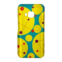 Yellow and green decorative circles HTC One M9 Hardshell Case