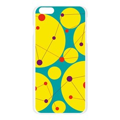 Yellow and green decorative circles Apple Seamless iPhone 6 Plus/6S Plus Case (Transparent)