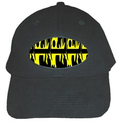 Yellow abstract pattern Black Cap