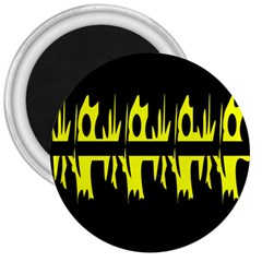 Yellow abstract pattern 3  Magnets