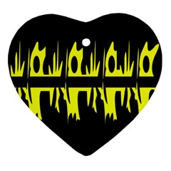 Yellow abstract pattern Ornament (Heart)