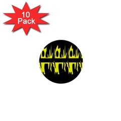 Yellow abstract pattern 1  Mini Buttons (10 pack)