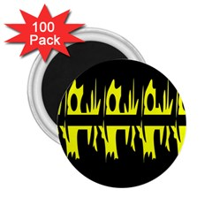 Yellow abstract pattern 2.25  Magnets (100 pack)