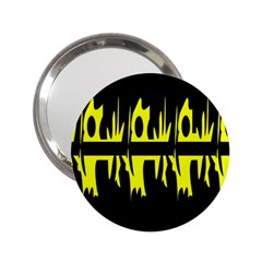 Yellow abstract pattern 2.25  Handbag Mirrors