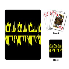 Yellow abstract pattern Playing Card