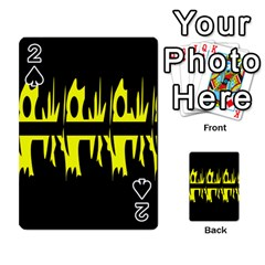 Yellow abstract pattern Playing Cards 54 Designs