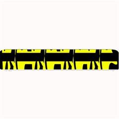Yellow abstract pattern Small Bar Mats