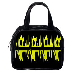 Yellow abstract pattern Classic Handbags (One Side)