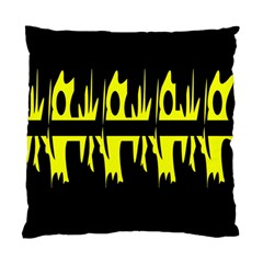 Yellow abstract pattern Standard Cushion Case (One Side)