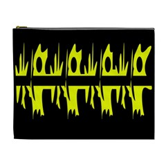 Yellow abstract pattern Cosmetic Bag (XL)