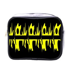 Yellow abstract pattern Mini Toiletries Bags