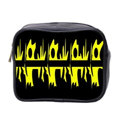 Yellow abstract pattern Mini Toiletries Bag 2-Side