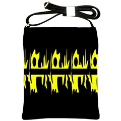 Yellow abstract pattern Shoulder Sling Bags