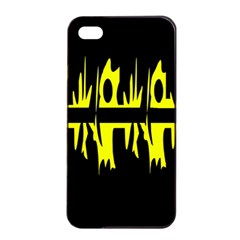 Yellow abstract pattern Apple iPhone 4/4s Seamless Case (Black)