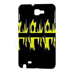 Yellow abstract pattern Samsung Galaxy Note 1 Hardshell Case