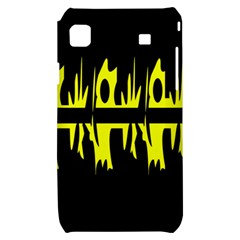 Yellow abstract pattern Samsung Galaxy S i9000 Hardshell Case