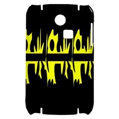 Yellow abstract pattern Samsung S3350 Hardshell Case