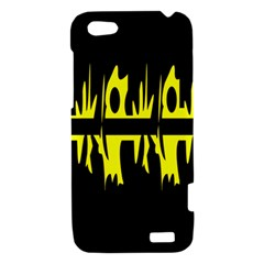 Yellow abstract pattern HTC One V Hardshell Case