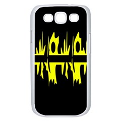 Yellow abstract pattern Samsung Galaxy S III Case (White)