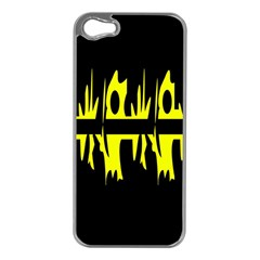 Yellow abstract pattern Apple iPhone 5 Case (Silver)