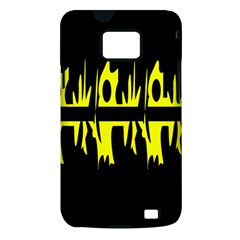Yellow abstract pattern Samsung Galaxy S II i9100 Hardshell Case (PC+Silicone)
