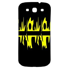 Yellow abstract pattern Samsung Galaxy S3 S III Classic Hardshell Back Case