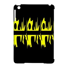 Yellow abstract pattern Apple iPad Mini Hardshell Case (Compatible with Smart Cover)