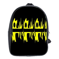 Yellow abstract pattern School Bags (XL)