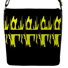 Yellow abstract pattern Flap Messenger Bag (S)