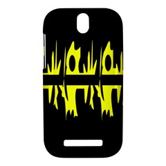 Yellow abstract pattern HTC One SV Hardshell Case