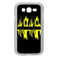 Yellow abstract pattern Samsung Galaxy Grand DUOS I9082 Case (White)