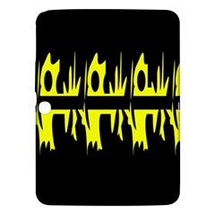 Yellow abstract pattern Samsung Galaxy Tab 3 (10.1 ) P5200 Hardshell Case
