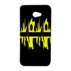 Yellow abstract pattern HTC Butterfly S/HTC 9060 Hardshell Case