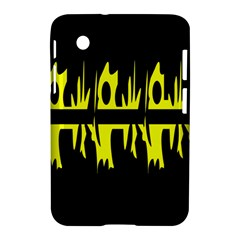 Yellow abstract pattern Samsung Galaxy Tab 2 (7 ) P3100 Hardshell Case