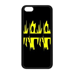 Yellow abstract pattern Apple iPhone 5C Seamless Case (Black)