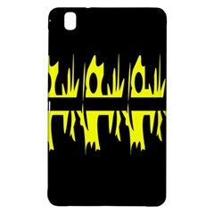 Yellow abstract pattern Samsung Galaxy Tab Pro 8.4 Hardshell Case