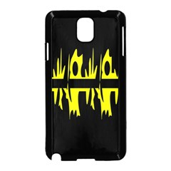 Yellow abstract pattern Samsung Galaxy Note 3 Neo Hardshell Case (Black)