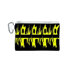 Yellow abstract pattern Canvas Cosmetic Bag (S)
