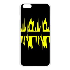 Yellow abstract pattern Apple Seamless iPhone 6 Plus/6S Plus Case (Transparent)