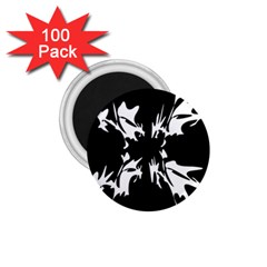 Black and white pattern 1.75  Magnets (100 pack)