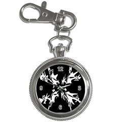 Black and white pattern Key Chain Watches
