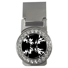 Black and white pattern Money Clips (CZ)