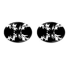Black and white pattern Cufflinks (Oval)