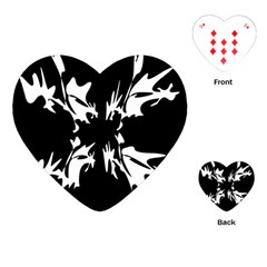 Black and white pattern Playing Cards (Heart)